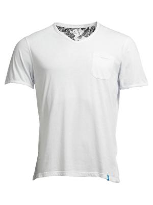 t-shirt scollo a v MOJITO