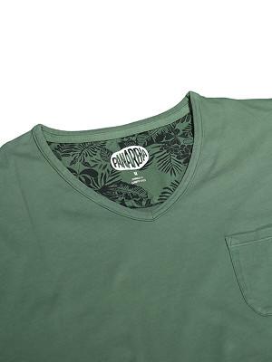 Panareha® t-shirt decote em v MOJITO   TH1802G10