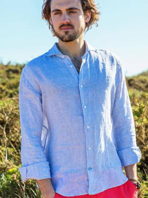 Panareha® | PHUKET streifen leinenhemd