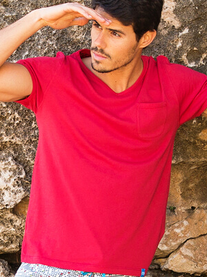 Panareha® MOJITO v-neck t-shirt | TH1802G11