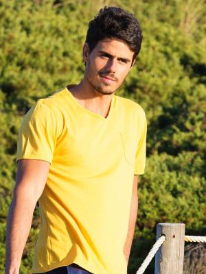 Panareha® t-shirt decote em v MOJITO   TH1802G15