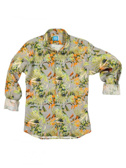 PANAREHA chemise en lin MAUI CH1852F11