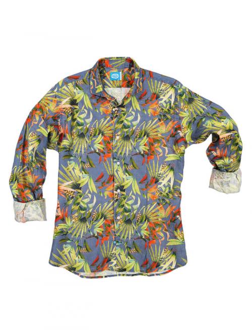 PANAREHA camicia di lino MAUI CH1852F12