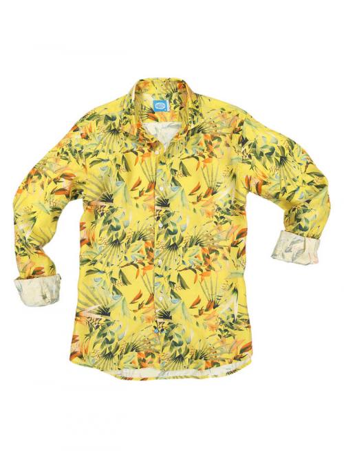PANAREHA camicia di lino MAUI CH1852F13