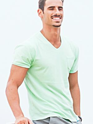 Panareha® | t-shirt scollo a v MOJITO