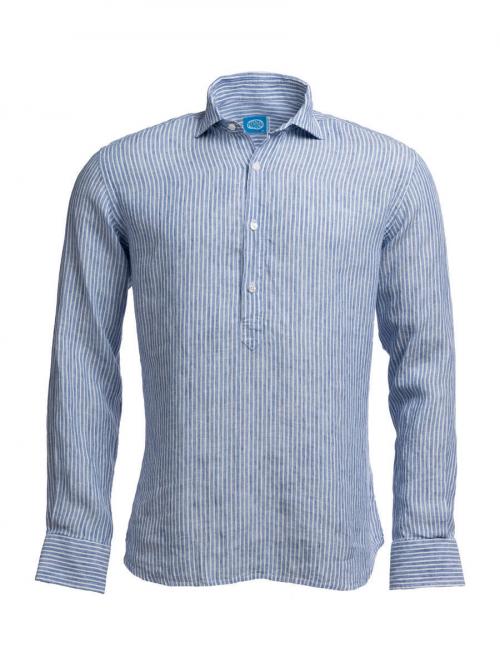 Panareha® chemise polera en lin à rayures SARDEGNA | CH1961S13