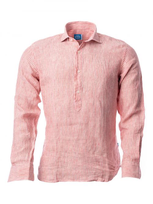 Panareha® chemise polera en lin à rayures SARDEGNA | CH1961S14