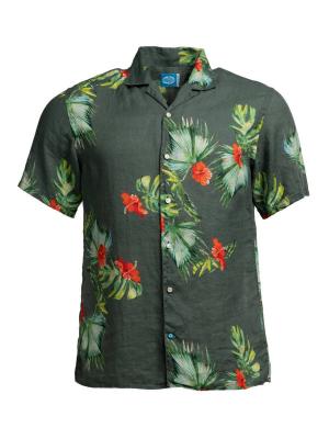 Panareha® HONOLULU leinen aloha shirt | CH1990F26