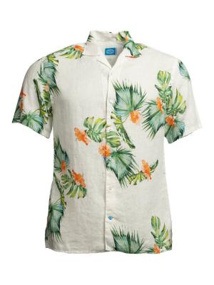 Panareha® | HONOLULU leinen aloha shirt