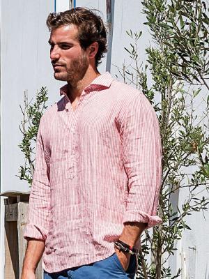Panareha® | chemise polera en lin SARDEGNA