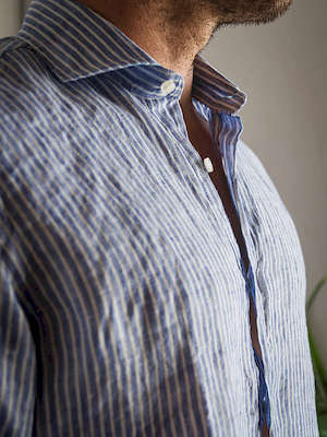 Panareha® chemise polera en lin SARDEGNA | CH1961S13