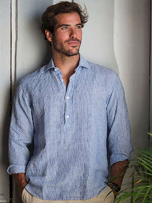 Panareha® | SARDEGNA leinen polera shirt