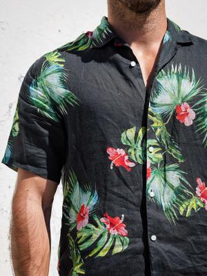 Panareha® | camicia aloha di lino HONOLULU