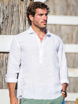 Panareha® | chemise popover en lin MAMANUCA